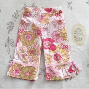 Toddler Girls Floral Pants Size 3T